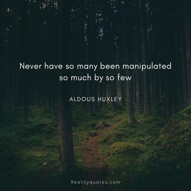 Never have so many been manipulated so much by so few