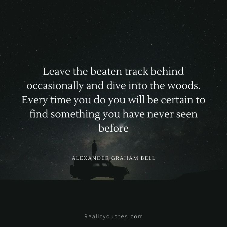 Leave the beaten track behind occasionally and dive into the woods. Every time you do you will be certain to find something you have never seen before
