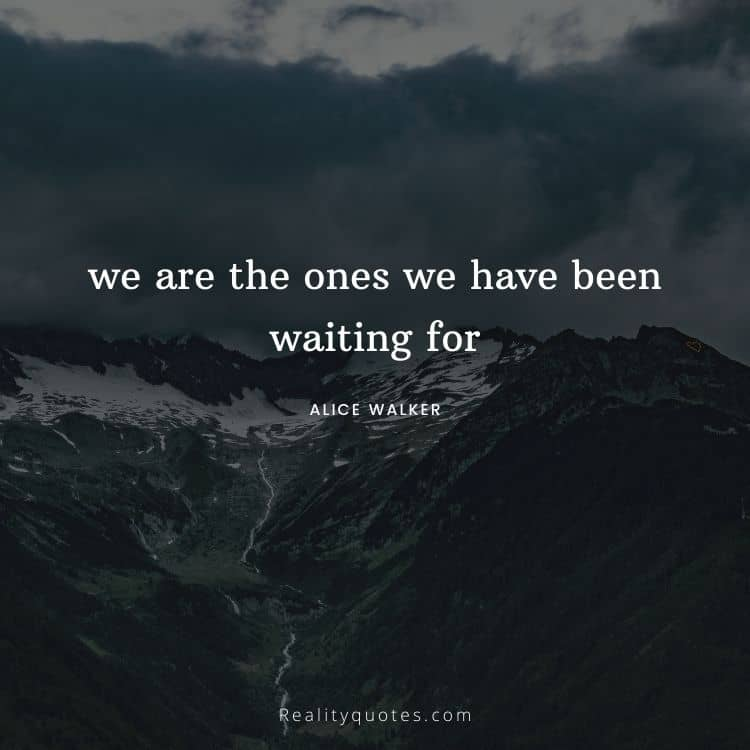 we are the ones we have been waiting for