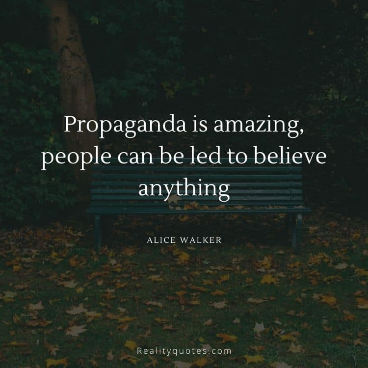 Propaganda is amazing, people can be led to believe anything