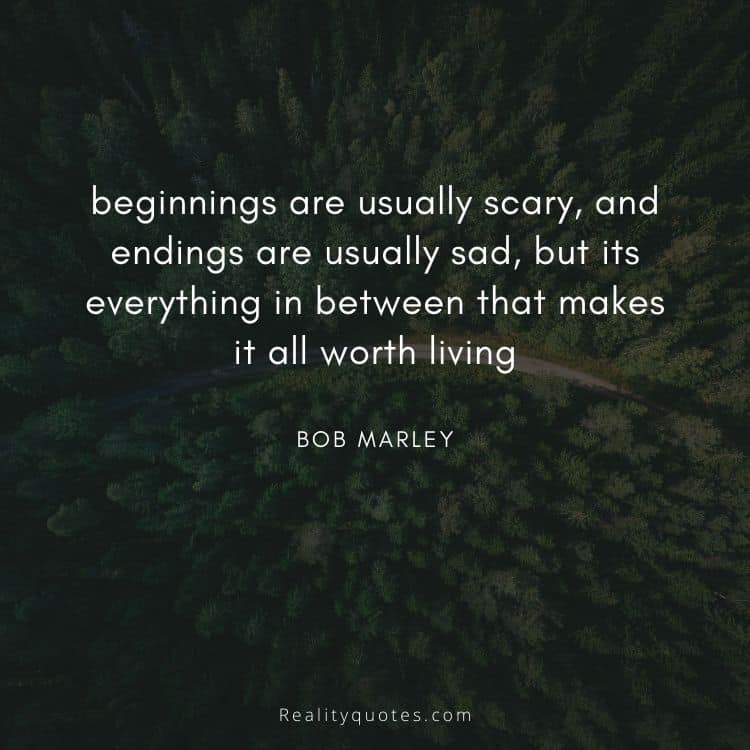 beginnings are usually scary, and endings are usually sad, but its everything in between that makes it all worth living